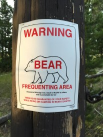 Warning - Bear Frequenting Area
