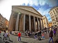 Pantheon facade - Rome, Italy