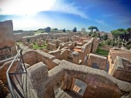 GoPro shot of Ostia Antica, south of Rome