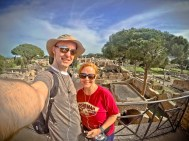 Justin and Wendy at Ostia Antica