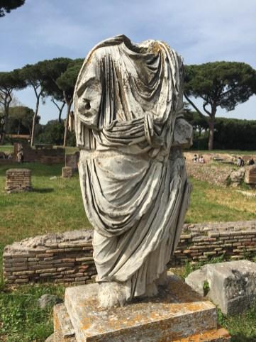 Headless statue at Ostia Antica