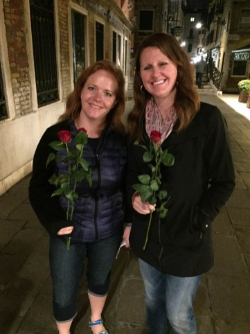 I retrieved these roses from the trash to give to Wendy and Monica. Wendy won't touch them.