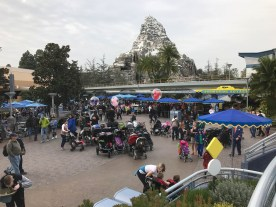 Strollers gather at the Matterhorn