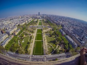 View from the Eiffel Tower - GoPro