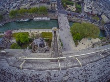 View from atop Notre Dame Cathedral