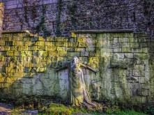 Interesting wall at Square Samuel de Champlain near Pere Lachaise