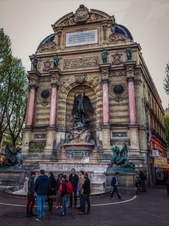Place St. Michel - Michael the Archangel defeats the Dragon