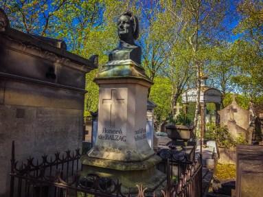 Balzac's grave - Pere Lachaise