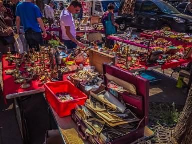Flea market near Pere Lachaise