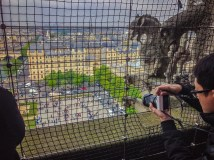 Taking photos from Notre Dame Tower