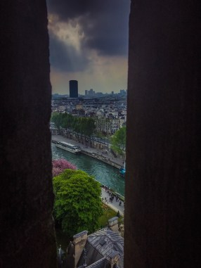 View while ascending Notre Dame Tower