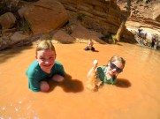 Playing in the Sulphur Creek