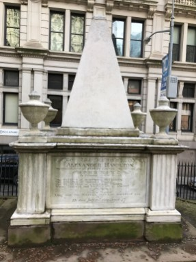 Alexander Hamilton's grave - Trinity Church, NYC