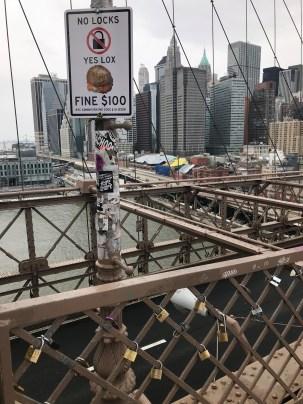 Yes to Lox, no to locks - Brooklyn Bridge