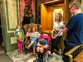 Lounging in Epcot Britain
