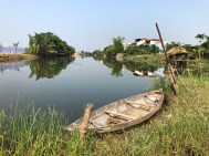 Boat and river in Hoi An