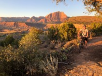 Fun mountain bike trail