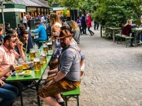 Beer garden tourists