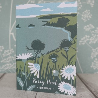 A6 greetings card featuring Berry Head in Brixham, Devon