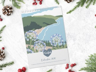 Torbay art calendar by Hillfolk illustration 2020