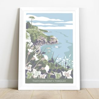 illustration of Thatcher Point in Torquay, in a white frame