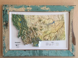 Here's a new barnwood designed for a raised-relief map of Montana. Definitely one of a kind!