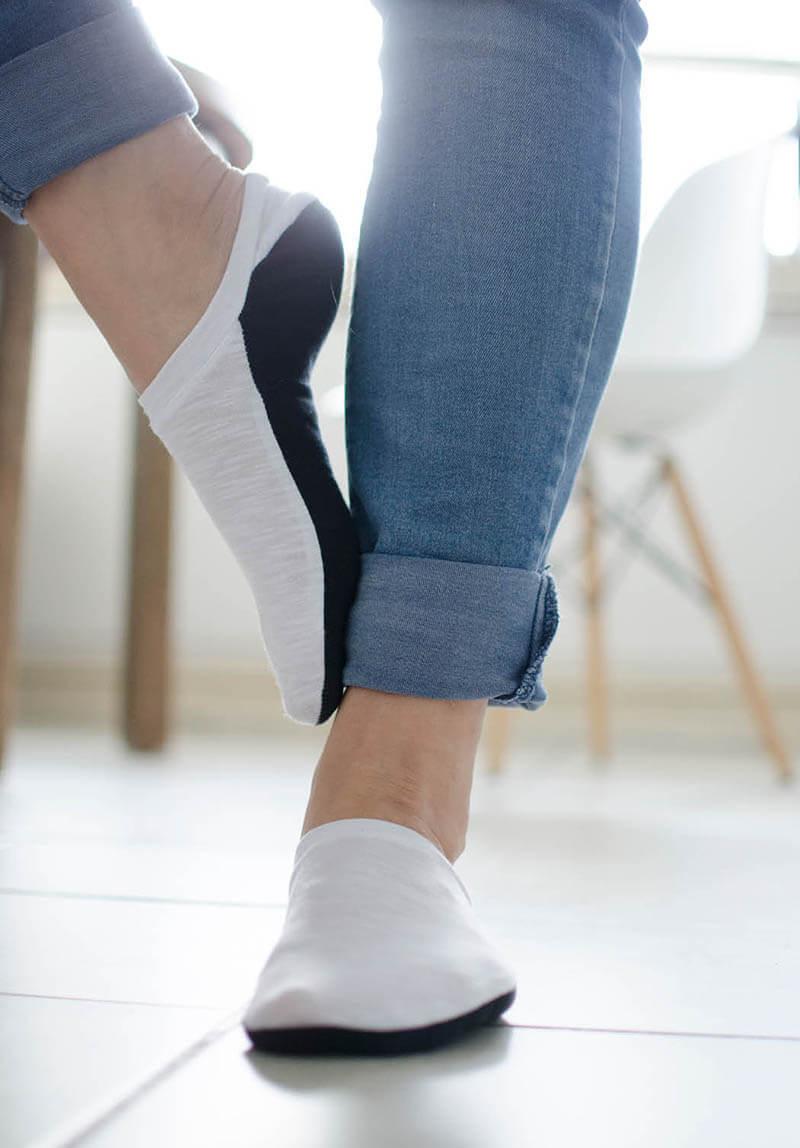 Sneakersocken nähen DIY Ringelprinz(essin)