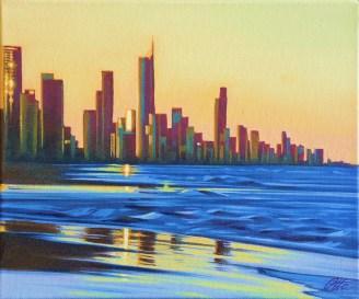 Otto Schmidinger, Sunset, Oil on canvas, 300 x 360, $300.