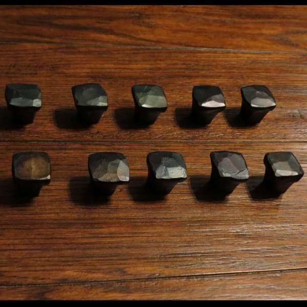 square knob cabinet pull