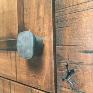 Rustic Hand Forged Hammered Large Square Knob