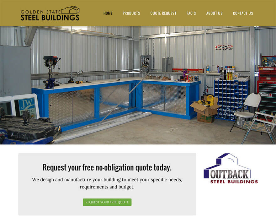 Golden State Steel Buildings Website