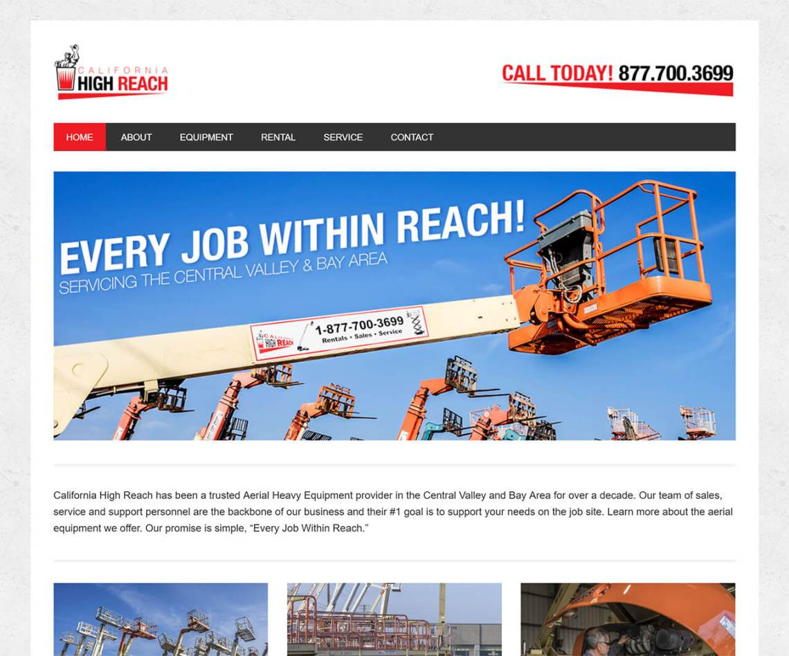 California High Reach Modesto – Heavy Equipment Rental Service