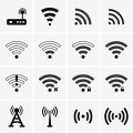 Wireless and Wifi icons