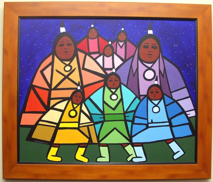Photograph of Jerry Whitehead' Native Women (2002)