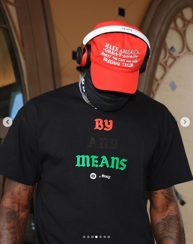LeBron James red hat is not for Donald Trump support