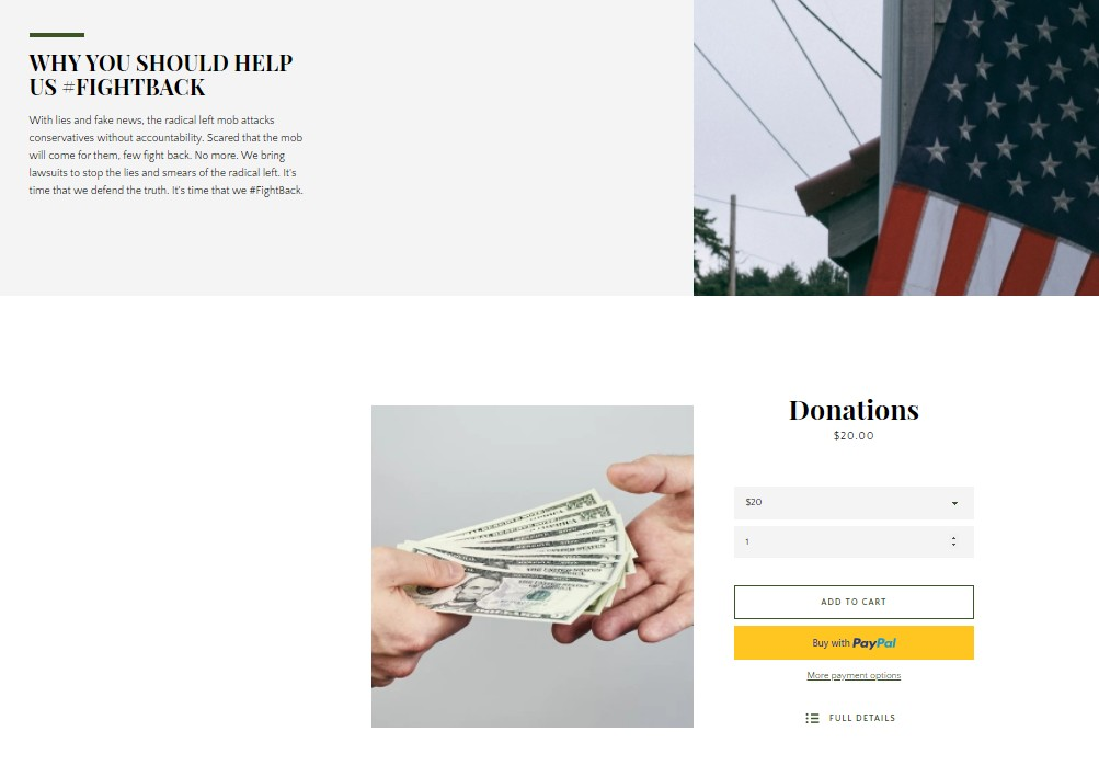 Fight Back donations