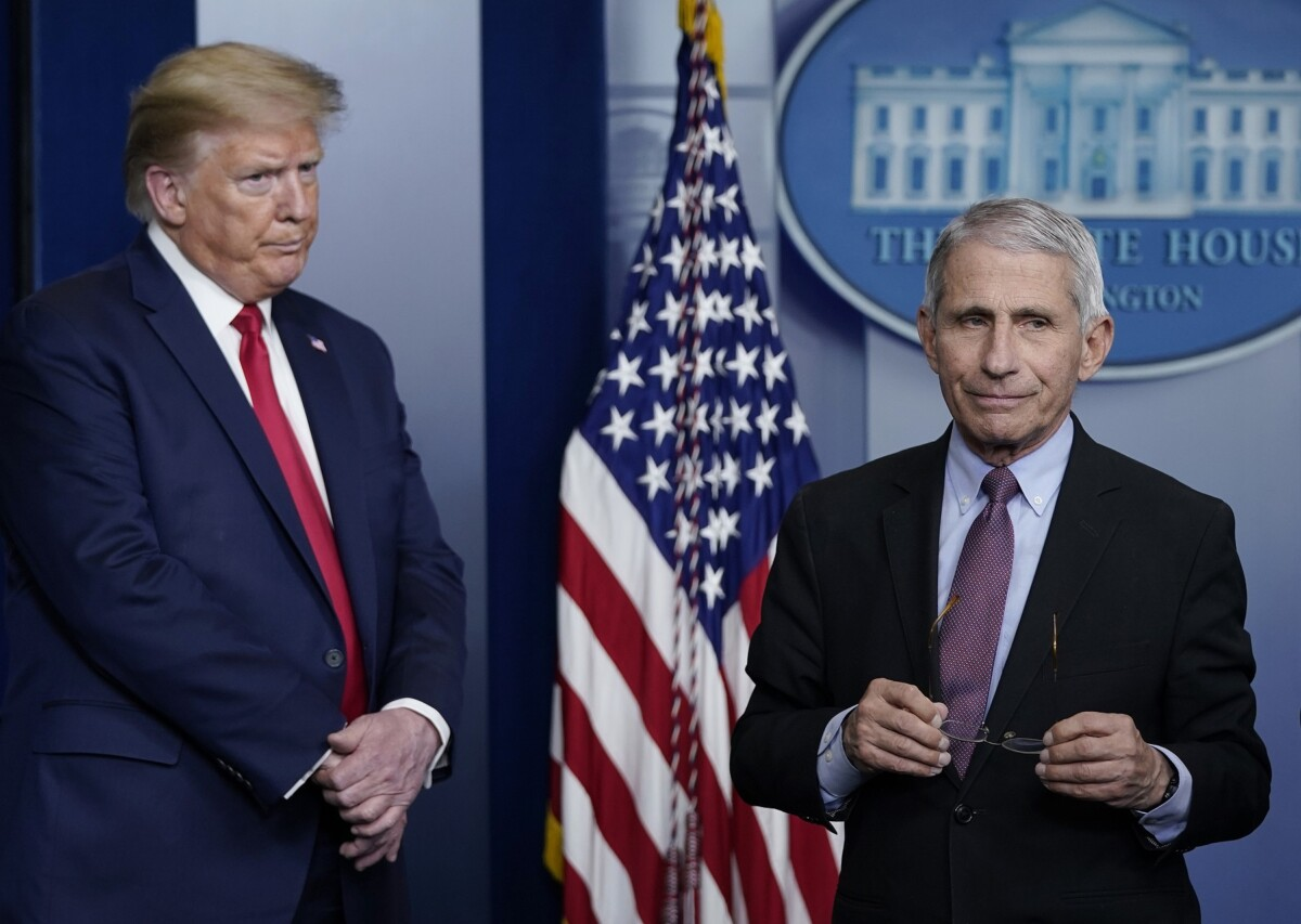 Anthony Fauci says Trump campaign could backfire