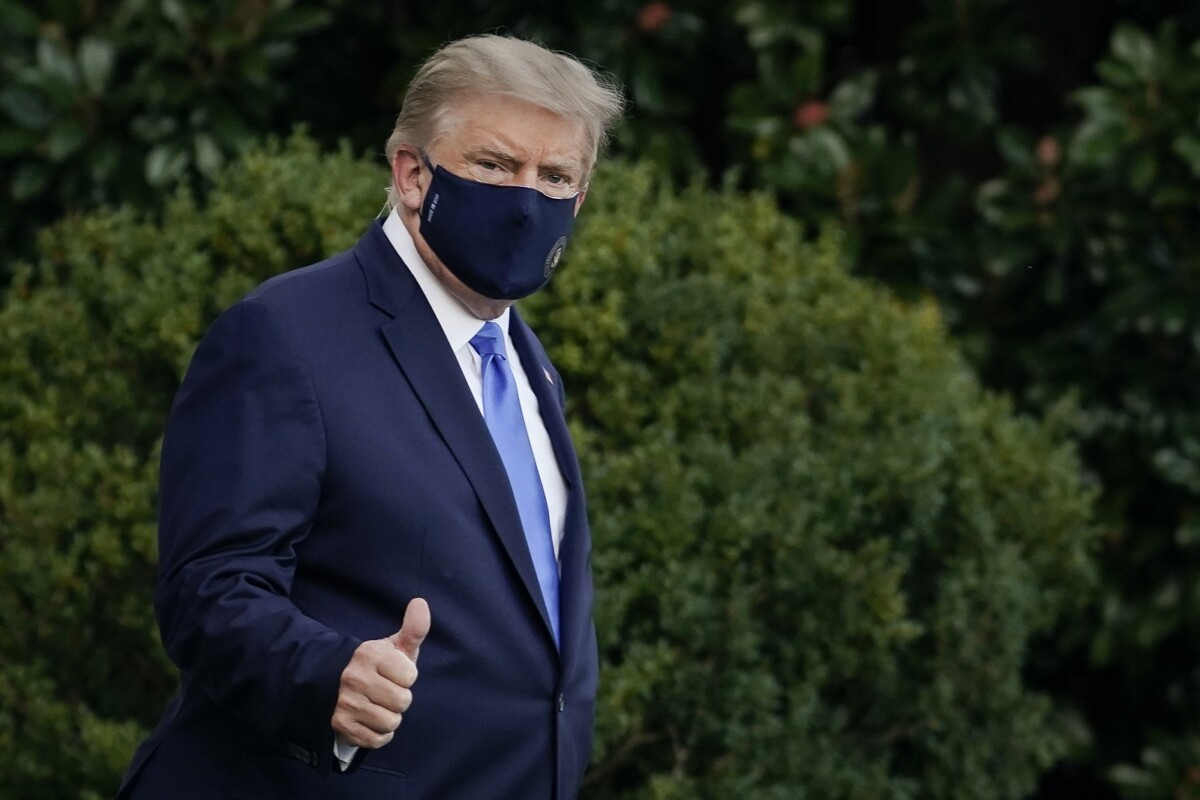 Donald Trump says he's fine with covid