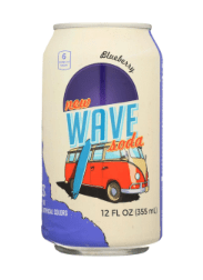 SODA WAVE BLUEBERRY 12 OZ CAN
