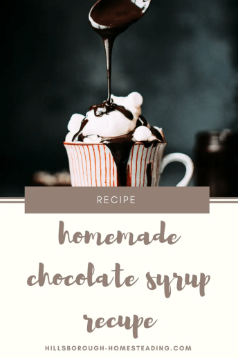 easy homemade chocolate syrup recipe