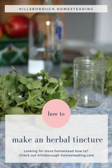 how to make herbal tincture
