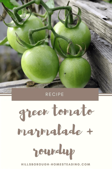 green tomato recipe canning