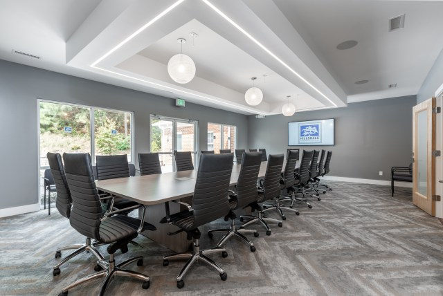 Spacious seating for boardroom meetings