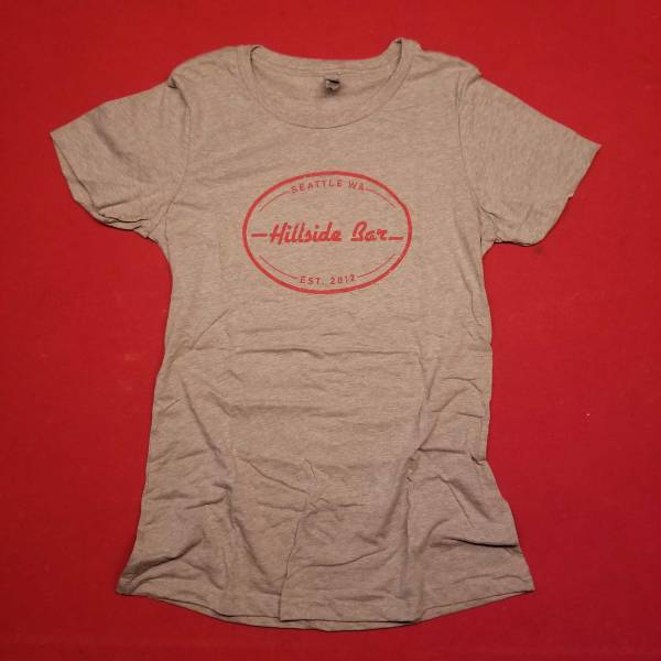 Hillside Womens Logo Tee Gray