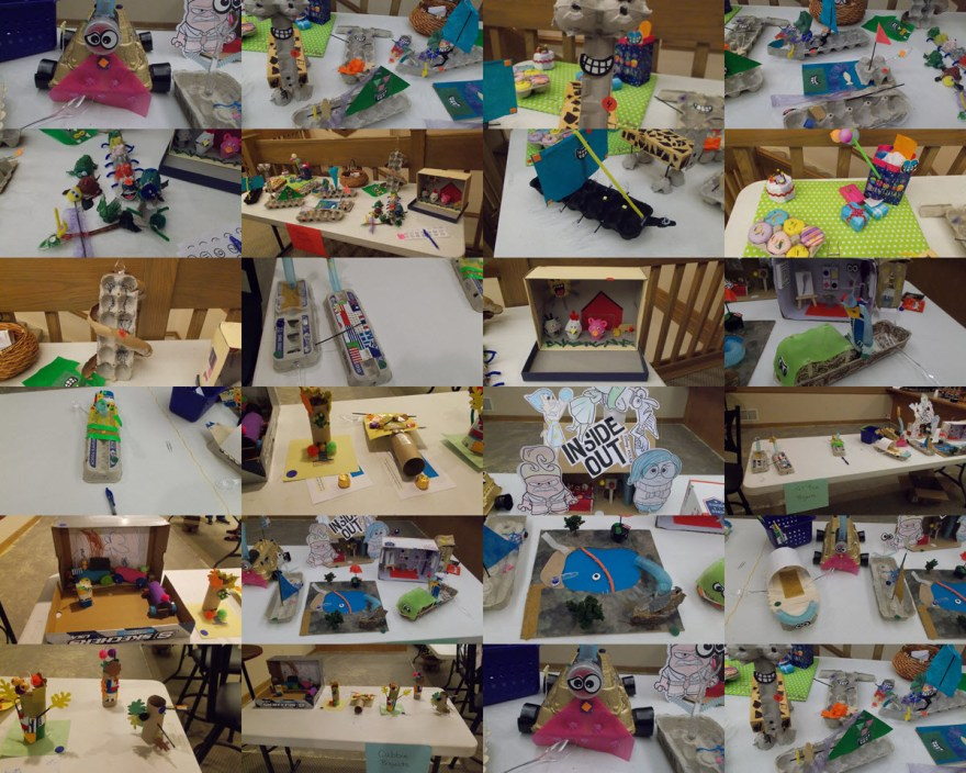 Projects from Awana Make It With Dad Project Day 2015.
