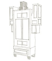 Sketch for cabinet related to the coffee issue of the city.