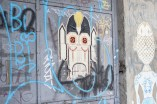 You can find mask and graffiti everywhere in the city.