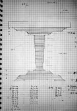 technical drawing for up]side[down table