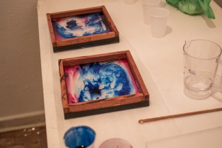 Colour and resin in reaction create beauiful shades