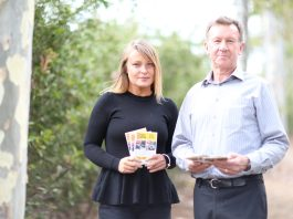 Hills Shire Mayor, Councillor Yvonne Keane pictured with Councillor Alan Haselden.
